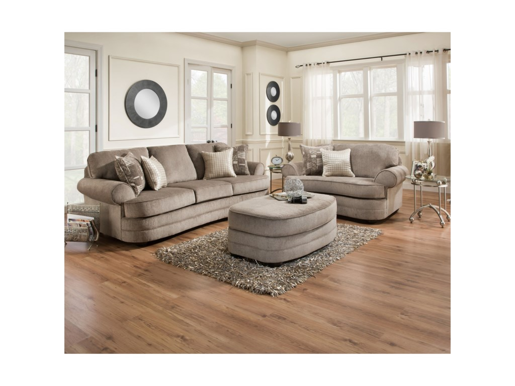 United Furniture Industries 9255BROval Ottoman