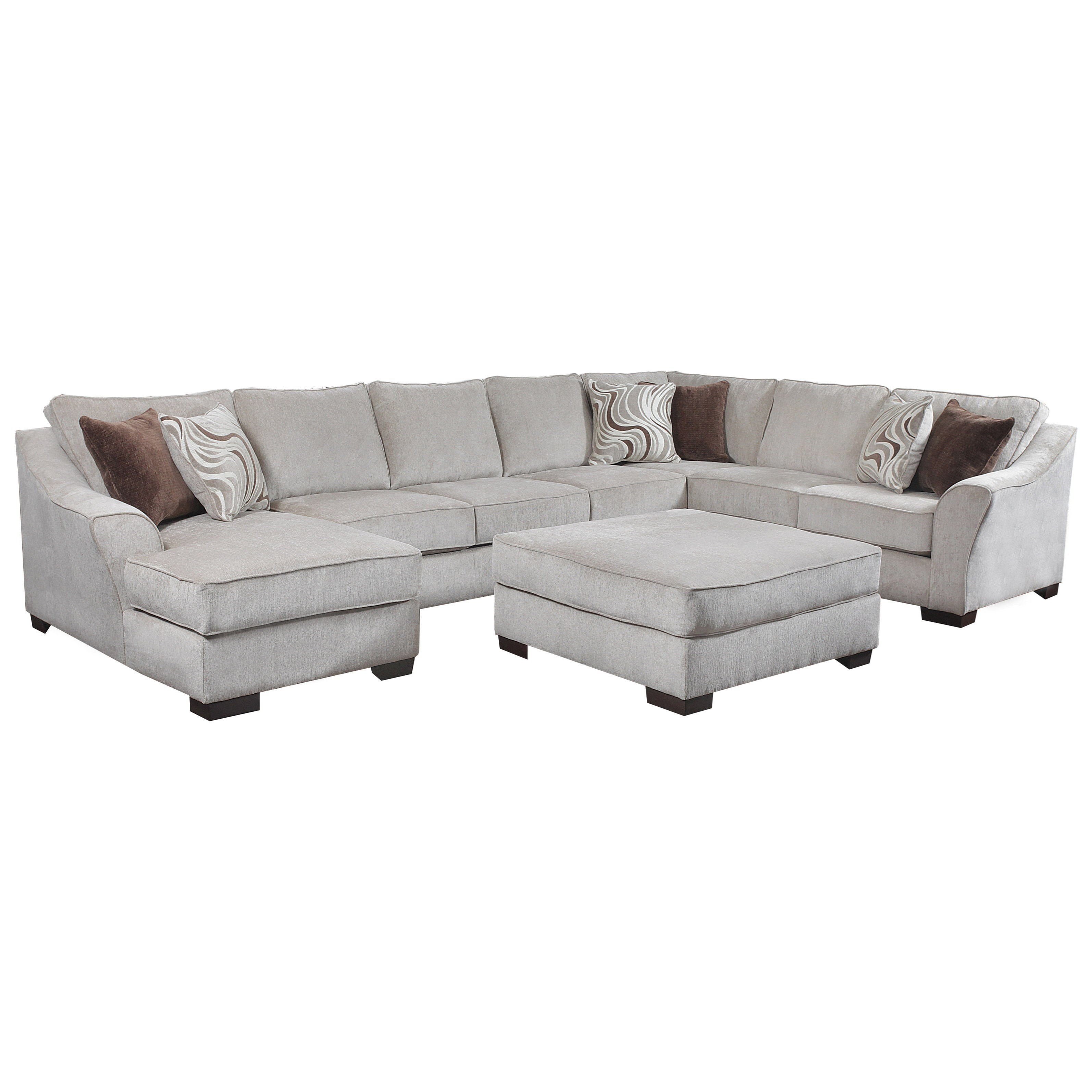 Simmons Upholstery 9355BRTransitional Sectional Sofa
