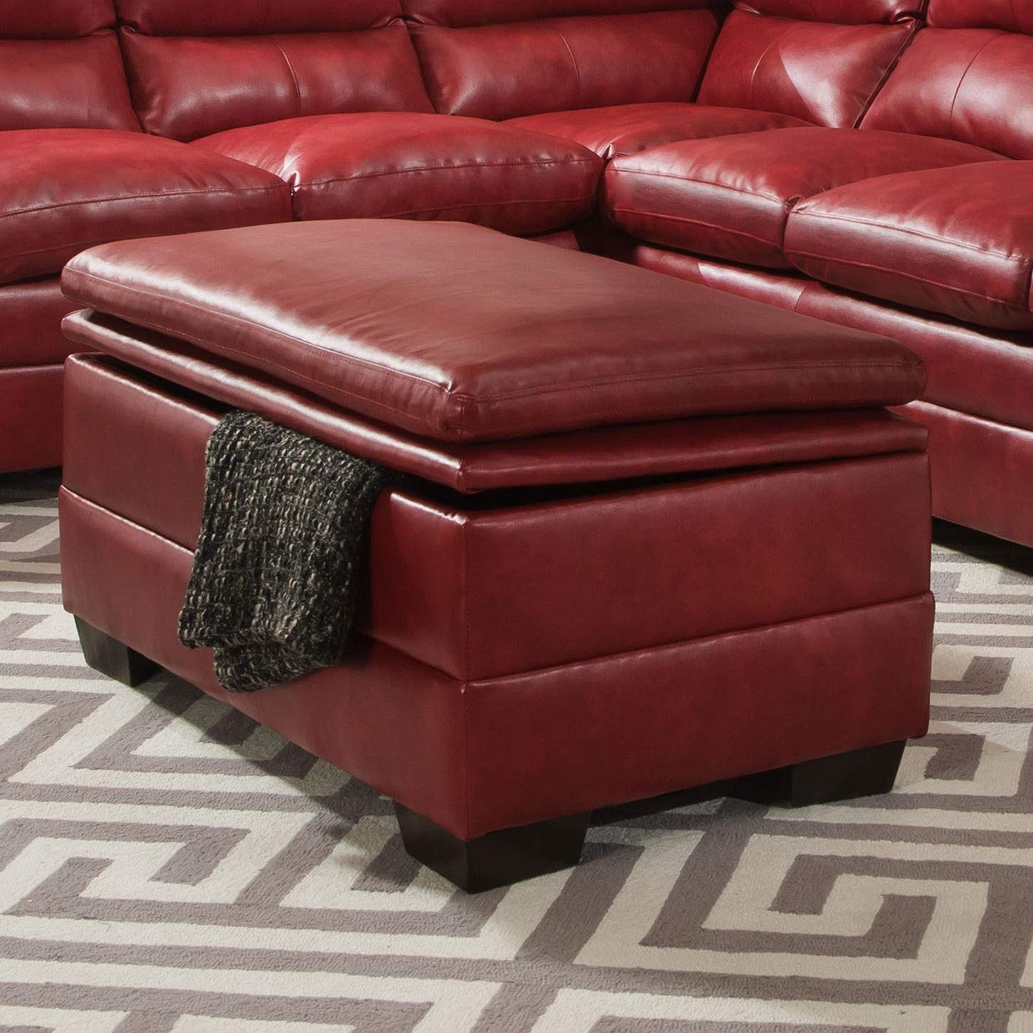 Simmons Upholstery 9515Casual Storage Ottoman ...