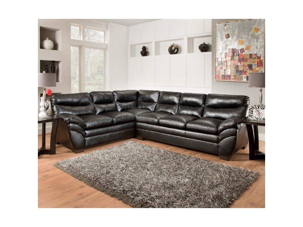 United Furniture Industries 9515Casual Sectional Sofa
