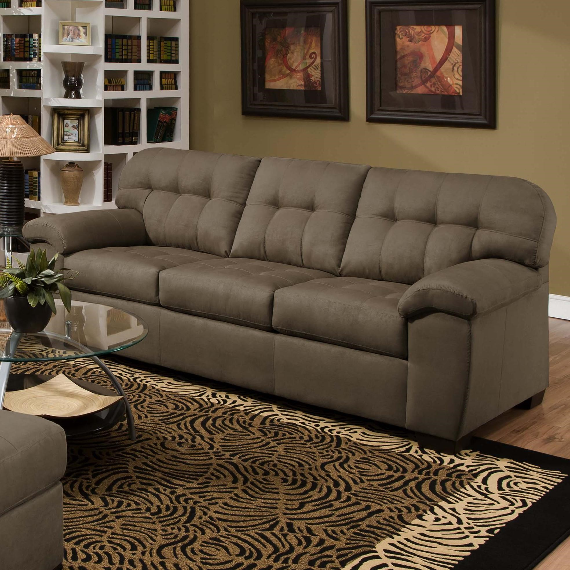 Superbe United Furniture Industries 9558 Transitional Sofa With Tufted Back
