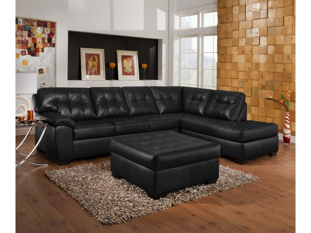 9568 Casual Sectional Sofa With Tufted Seat Back By United Furniture Industries At Fair North Carolina