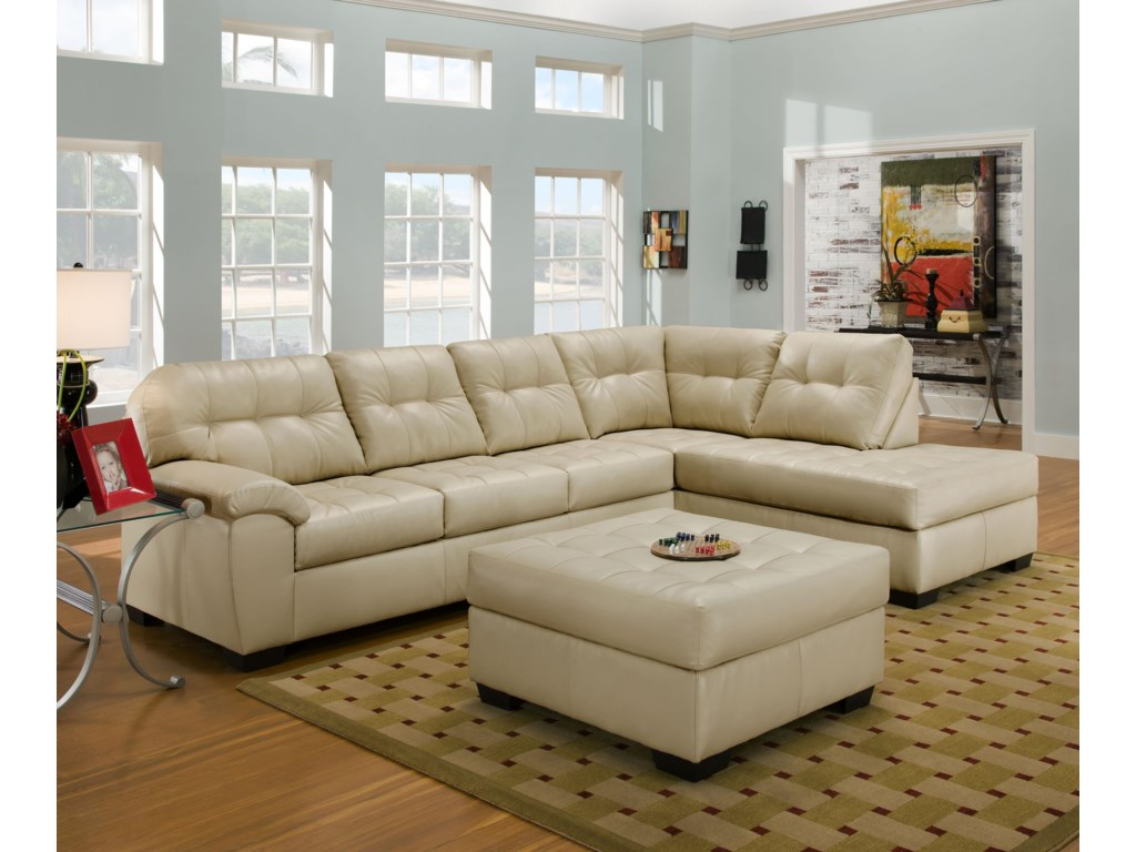 United Furniture Industries 9568Sectional Sofa
