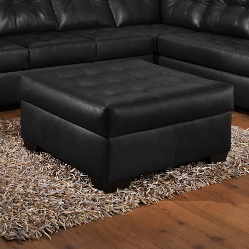 United Furniture Industries 9568 Tufted Cocktail Ottoman