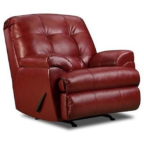 United Furniture Industries 9568 Casual Rocker Recliner