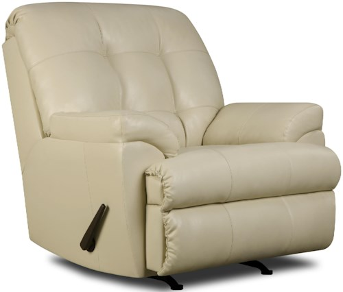 United Furniture Industries 9568 Casual Rocker Recliner