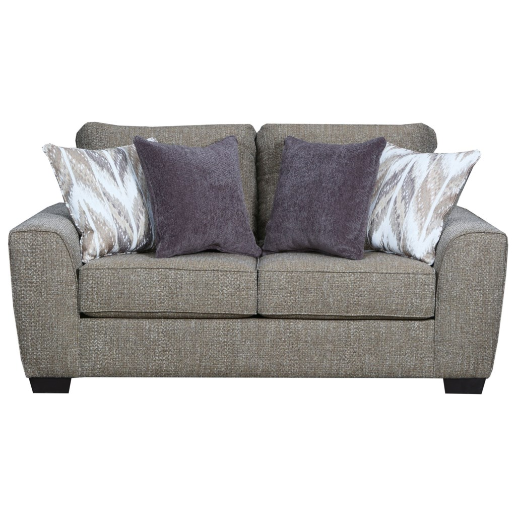 United furniture industries 9770br contemporary love seat