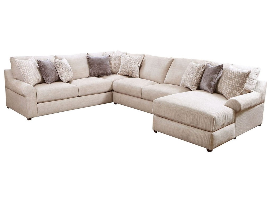 United Furniture Industries 99064-Piece Sectional