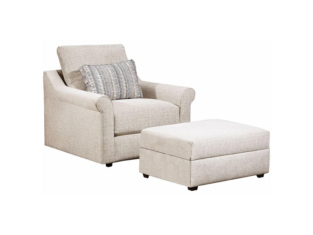 Simmons Upholstery 9910Storage Ottoman