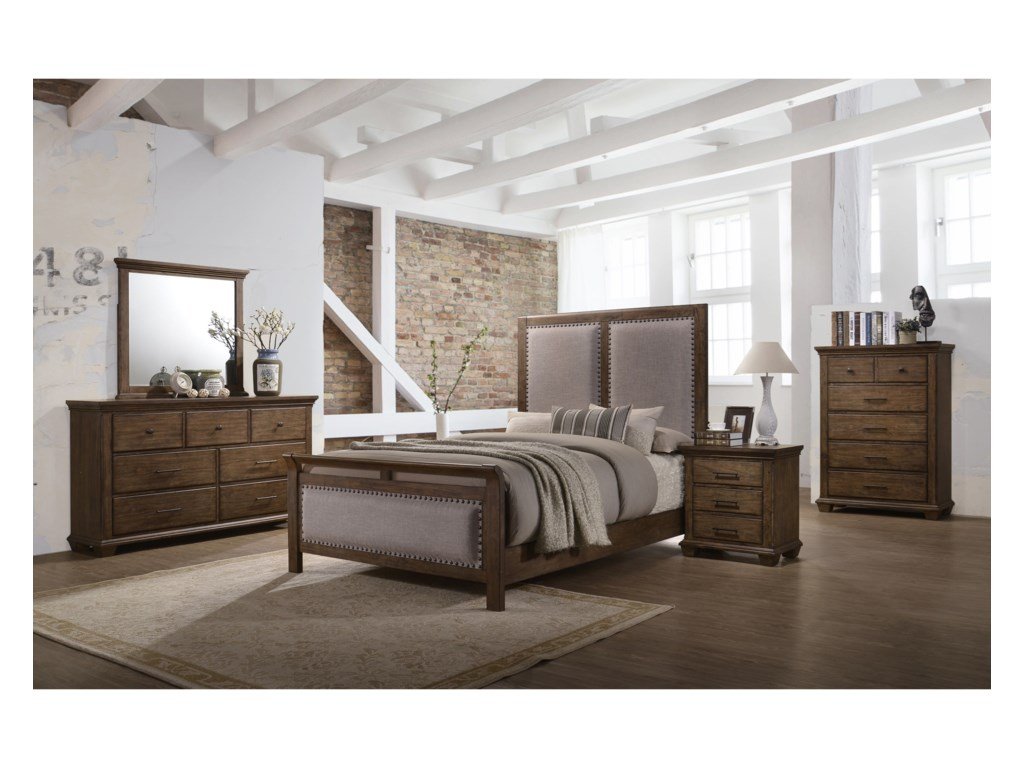 United Furniture Industries Carlton 1040Queen Bedroom Group
