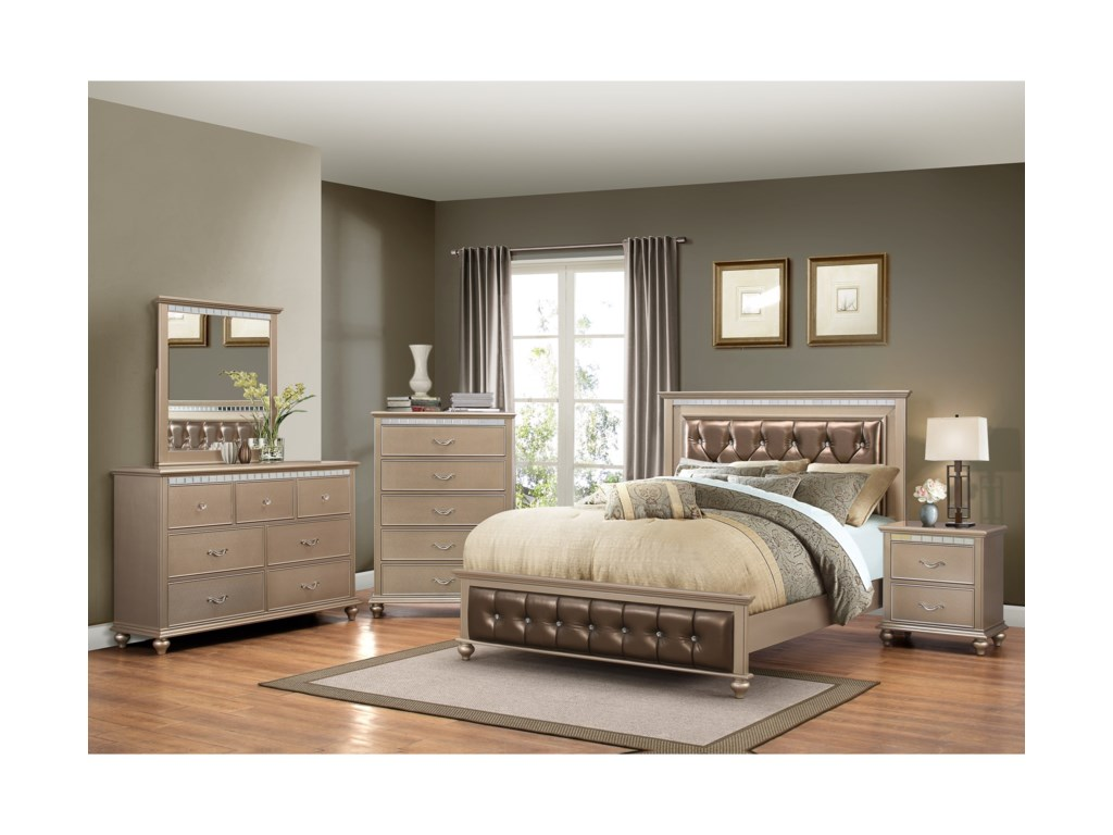 United Furniture Industries Hollywood 1008Queen Bedroom Group