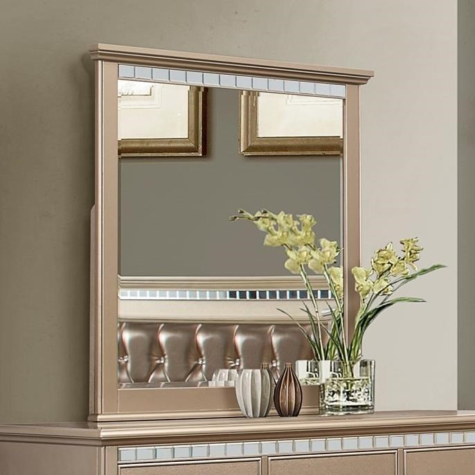 transitional furniture united furniture industries hollywood 1008 transitional mirror