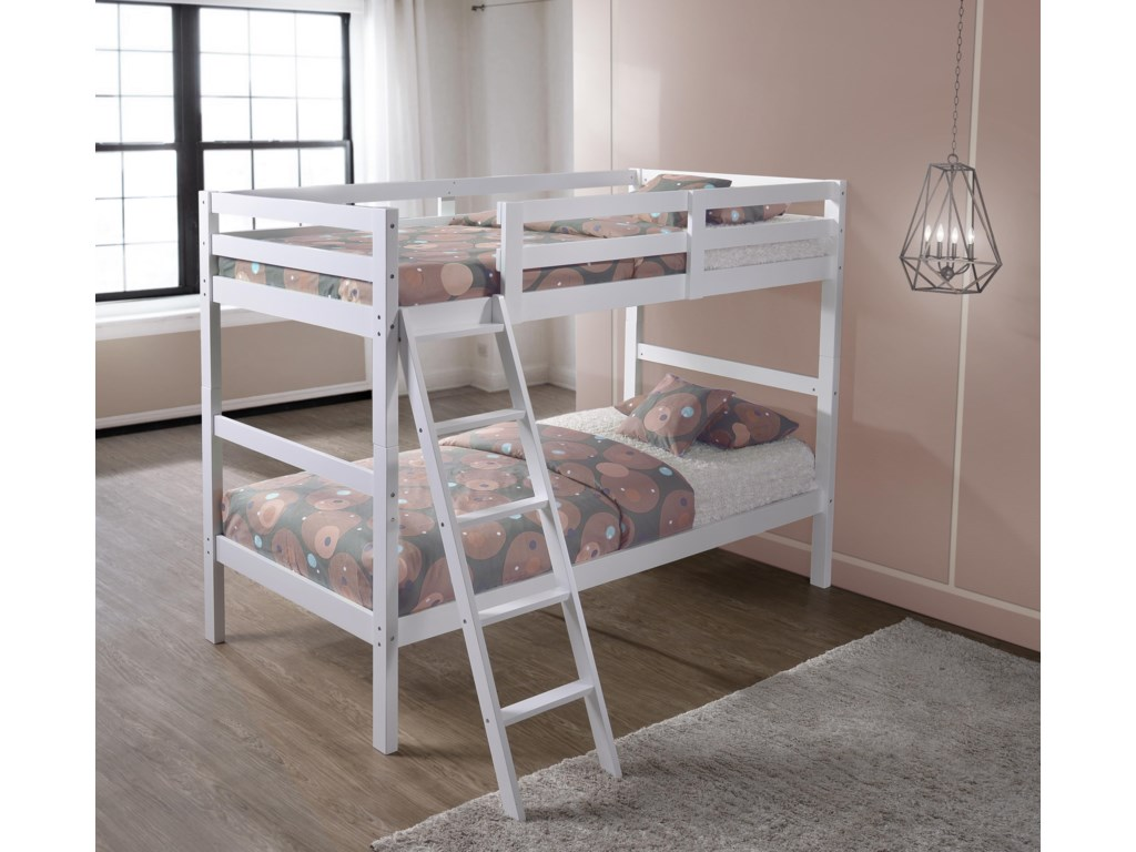 Simmons Upholstery Mission HillsTwin over Twin Bunk Bed
