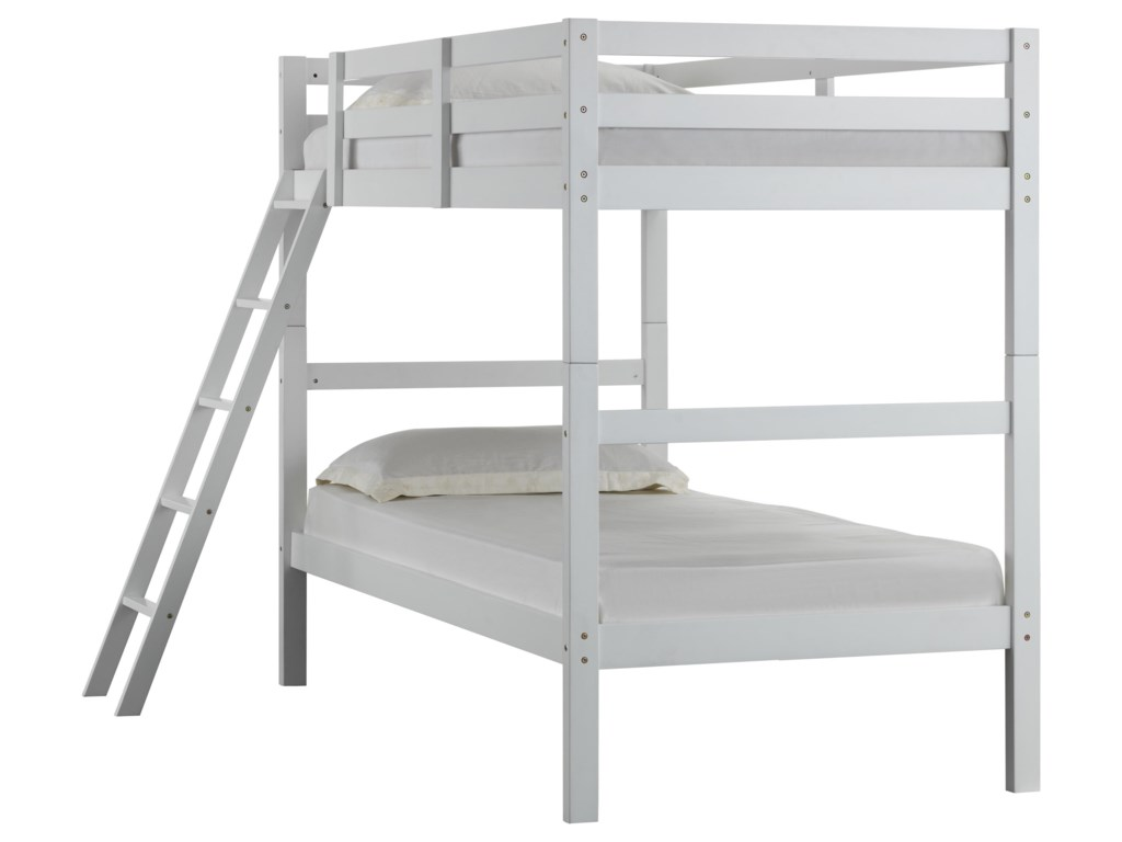 Simmons Upholstery Mission Hills Twin Over Twin Bunk Bed Royal