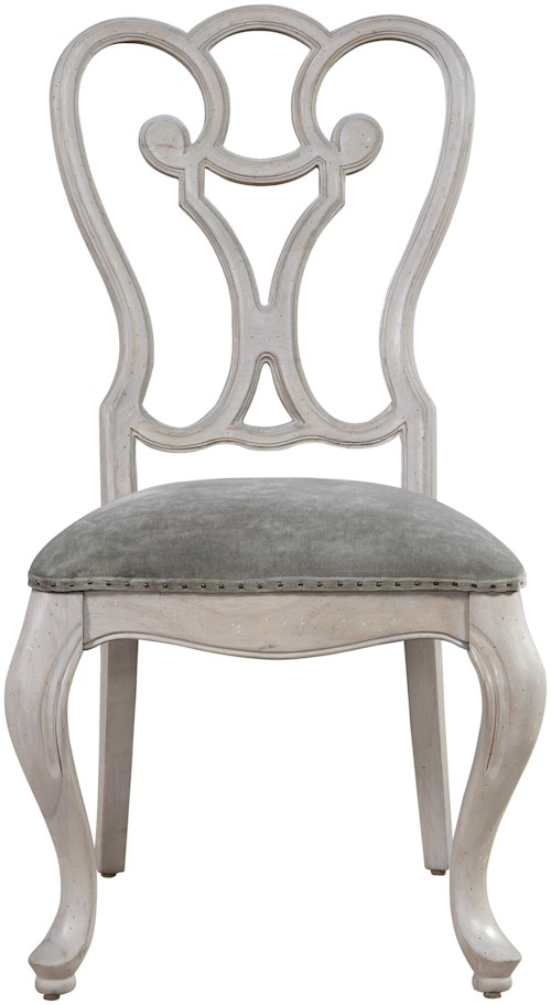 Universal Élan Traditional Side Chair with Upholstered Seat and Nailhead Trim