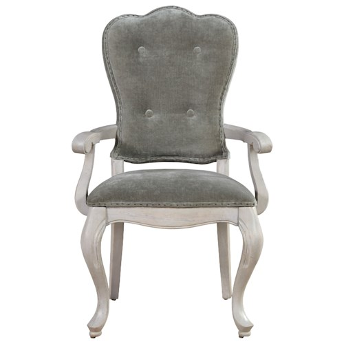 Universal Élan Traditional Upholstered Arm Chair with Tufting and Nailhead Trim