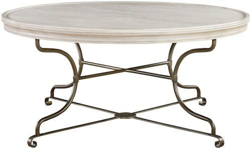Universal Élan Round Cocktail Table with Metal Base