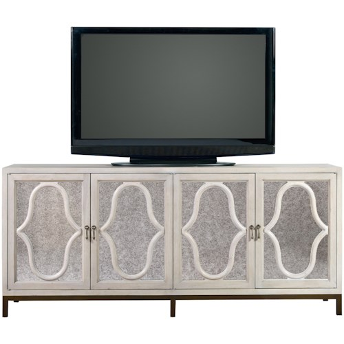 Universal Élan Entertainment Console with Mirrored Front Panels