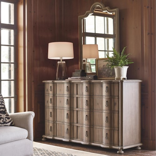 Universal Authenticity 8 Drawer Dresser and Francesco Mirror Combo