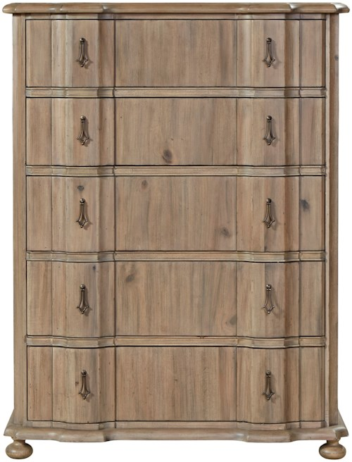 Universal Authenticity 5 Drawer Chest with Cedar-Lined Bottom Drawer