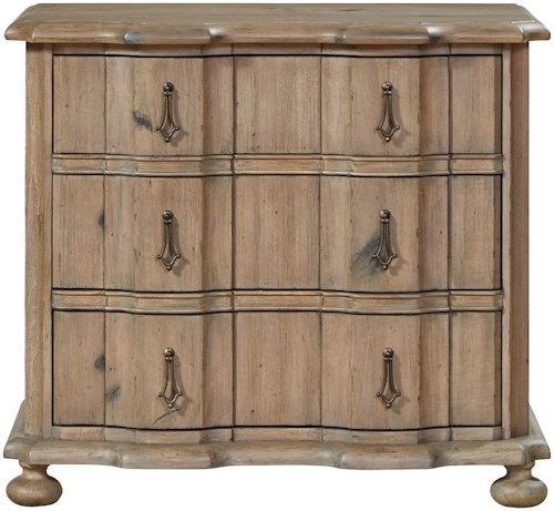 Universal Authenticity 3 Drawer Nightstand with Two Power Outlets