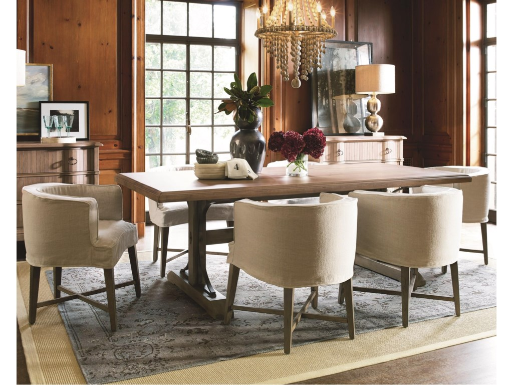 Universal Authenticity7 Piece Table And Chair Set