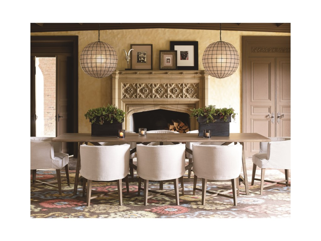 Universal Authenticity9 Piece Table And Chair Set