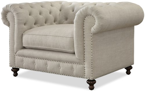 Universal Berkeley Button-Tufted Chair with Nailhead Trim