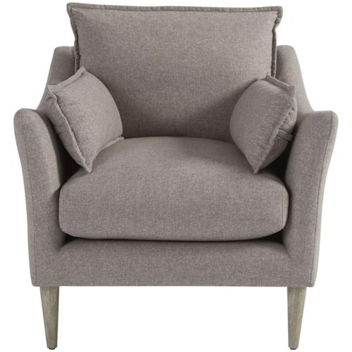 Universal Blair Contemporary Chair with Arm Pillows