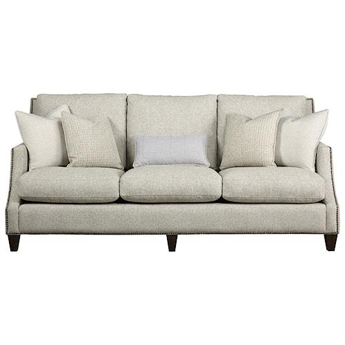 Universal Brady Transitional Sofa with Nailhead Trim