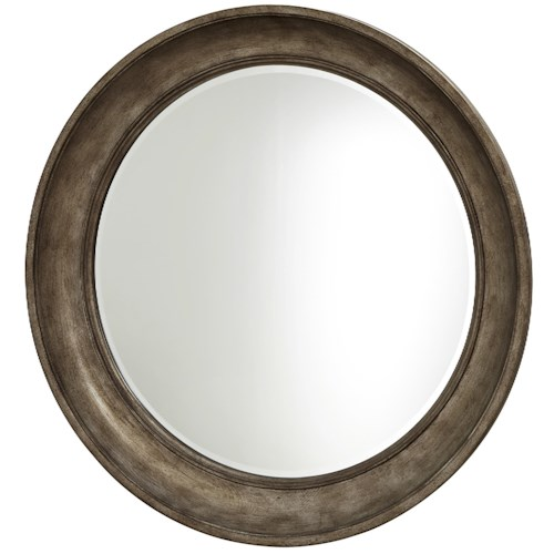 Universal California - Hollywood Hills Round Mirror with Champagne Finish