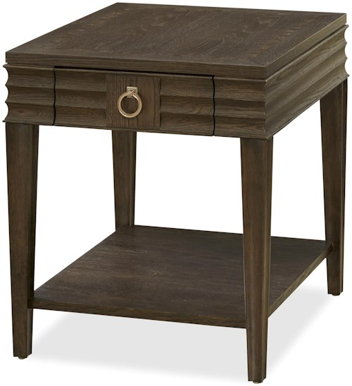 Universal California - Hollywood Hills Drawer End Table with Shelf