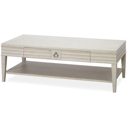 Universal California - Malibu Rectangular Cocktail Table with 1 Drawer