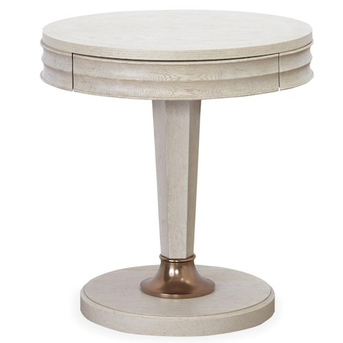 Universal California - Malibu Round End Table with Drawer