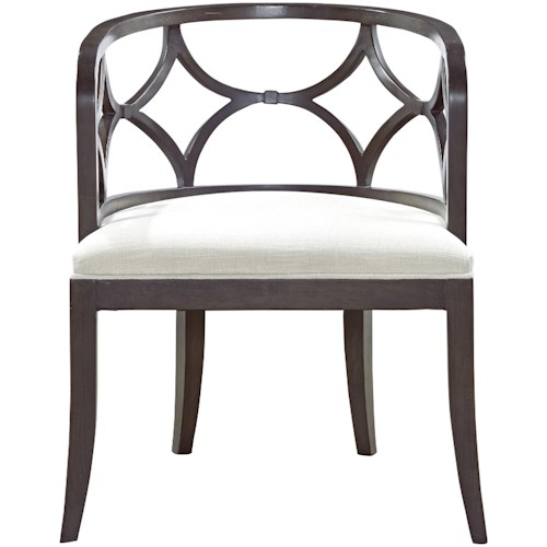 Universal Carmichael Accent Chair with Diamond Shaped Frame