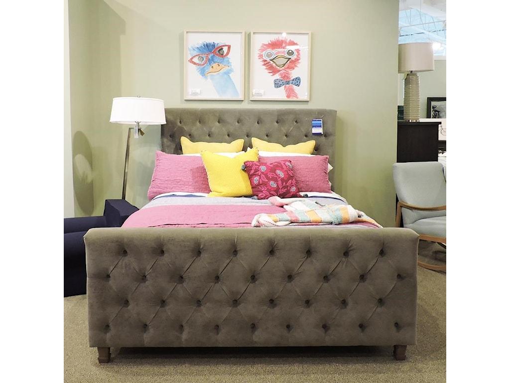 Universal ClearanceQueen Velvet Upholstered Bed