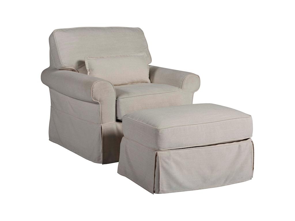 Universal Coastal Living Home - EscapeVentura Chair and Ottoman