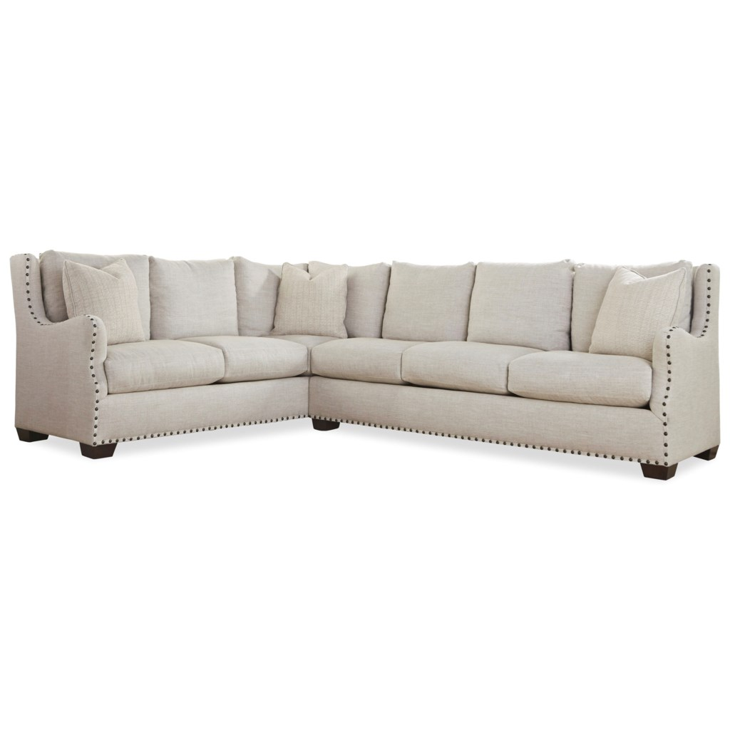 Universal Connor Traditional Sectional Sofa With Nail Head Trim  ~ Nailhead Trim Sectional Sofa