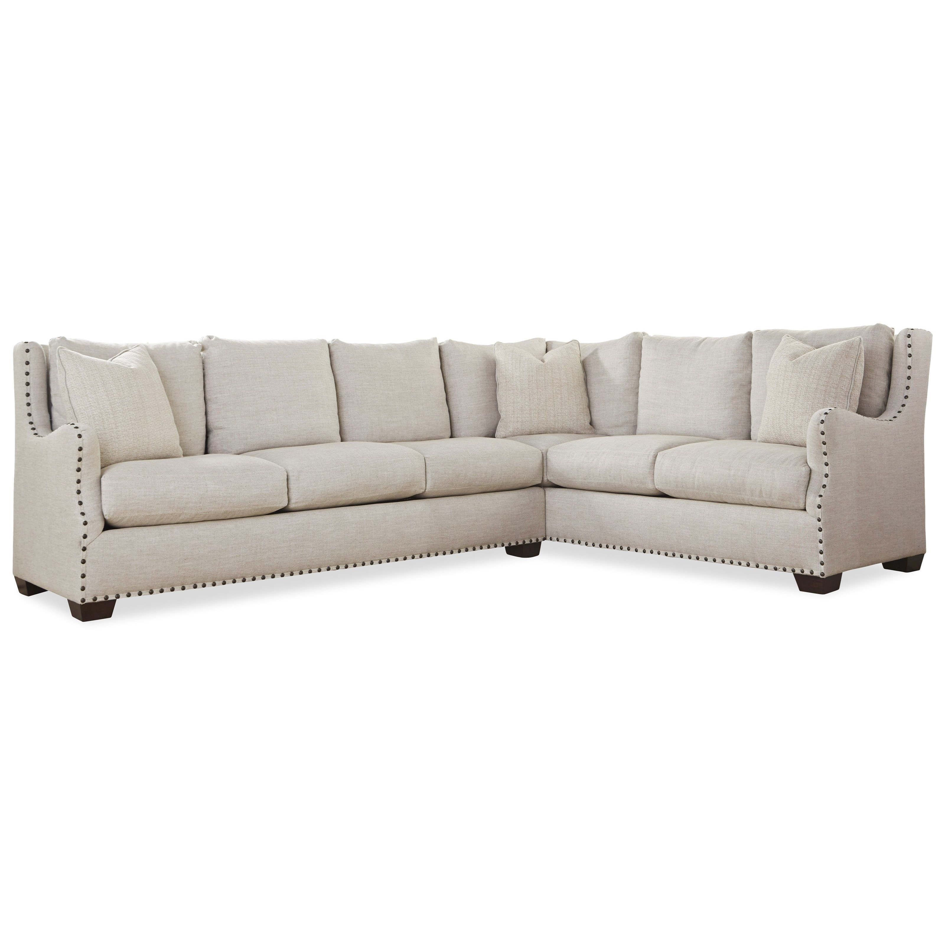 Universal Connor Traditional Sectional Sofa with Nail Head Trim - Hudsonu0027s Furniture - Sectional Sofas  sc 1 st  Hudsonu0027s Furniture : sectional sofa with nailhead trim - Sectionals, Sofas & Couches