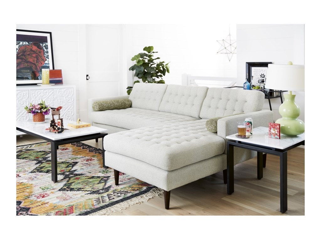 Universal Copeland2 Pc Sectional Sofa w/ Right Chaise