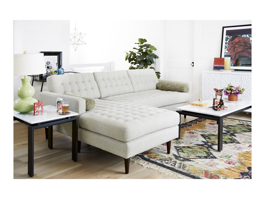 Universal Copeland2 Pc Sectional Sofa w/ Left Chaise