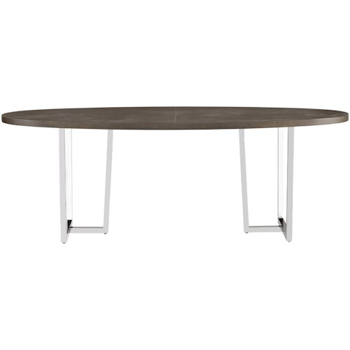 Universal Curated Brighton Table with Metal Pedestals