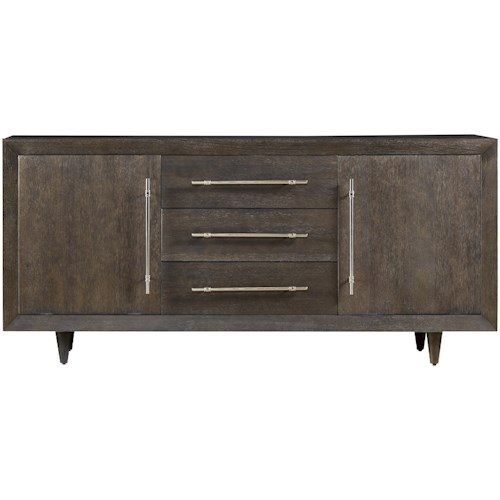 Universal Curated Delancy Credenza with 3 Drawers