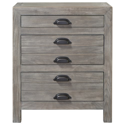 Universal Curated Gilmore Nightstand with 3 Drawers