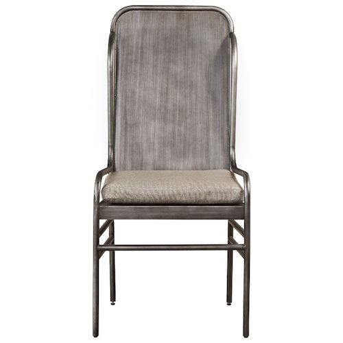 Universal Curated Academy Metal Host Chair with Upholstered Seat
