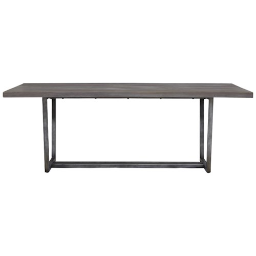 Universal Curated Sedgwick Table with Metal Base