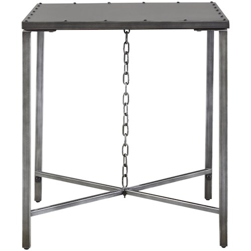 Universal Curated Eliston End Table with Chain Link