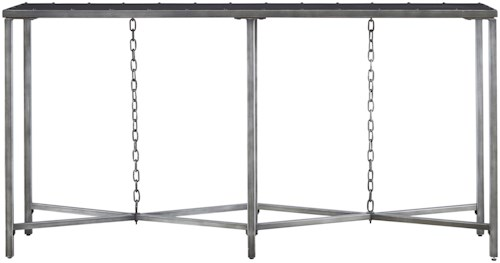 Great Rooms Curated Eliston Console Table with Chains