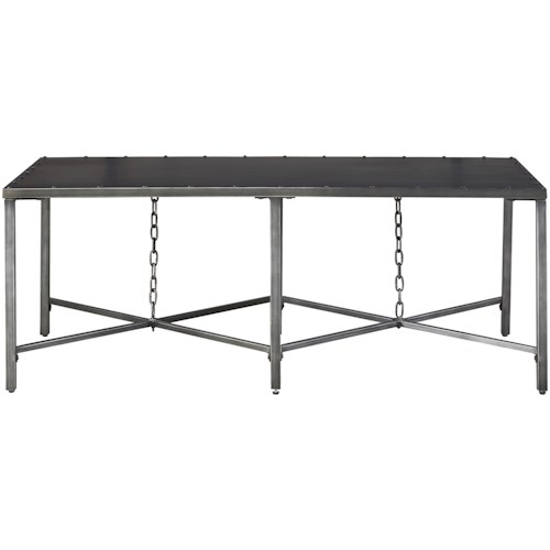 Universal Curated Eliston Metal Cocktail Table with Chain Detail