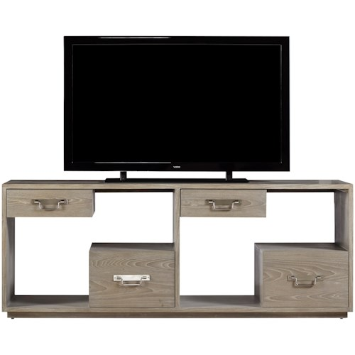 Universal Curated Danbury Console with Floating Drawer Design
